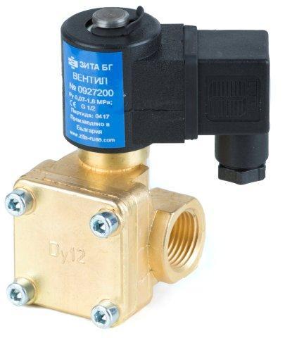 Вентиль электромагнитный ЗИТА тип 0927200 12 катушка 220V, 24V
